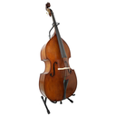[301965] Cello & Double Bass Stand - Black with Bow Holder