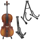 [301966] Cello Stand - Small Black Collapsible