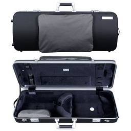 "[B2-PANT2202XLB] Viola Case - Bam Panther Hightech Oblong with Pocket, Black, 15""-16.5"""
