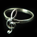 [70708070L] RING STERLING SILVER TREBLE CLEF CURVED LARGE SIZE 8