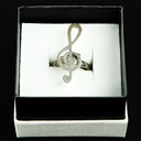[70708043] RING STERLING SILVER TREBLE CLEF. LARGE SIZE 9