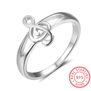 [708084747] Sterling silver rings oval space in the front with a treble clef over it. Size 8