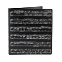 [708041] 3 Ring Binder Folder - Display folder Black with Silver Manuscript Print