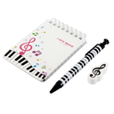 [70808256] 100K STATIONERY KIT/SET NOTEBOOK WITH PEN ERASER KEYBOARD. WHITE NOTEBOOK