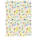 [708084147] Wrapping Paper - Turnowsky Embossed - violins, trumpets, drums & various colourful instruments withcolourful dots.