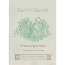[S-787.3/BEA1] Beath - From a Quiet Place - Viola/Piano Accompaniment Australian Music Centre 787.3/BEA 1