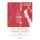 [S-5151] Bach - 6 Suites for Violoncello - Transcribed for Violin Hugel 5151