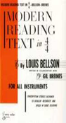[S-HAB00003] Modern Reading Text in 4/4 - For All Instruments - Gil Breines|Louis Bellson - All Instruments Alfred Music