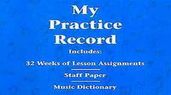[S-296046] My Practice Record - Hal Leonard Student Piano Library - Piano Hal Leonard